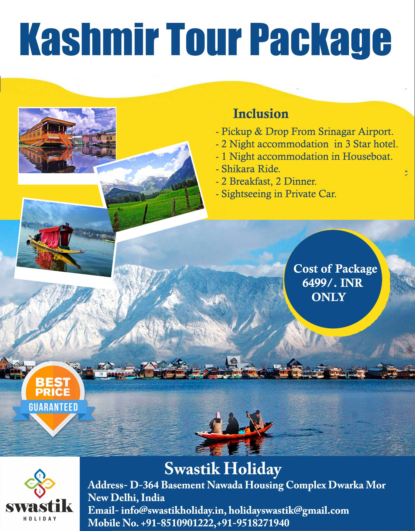Janat E Kashmir Kashmir Tour Package Duration Of Package 3night 4day Cost Of Package 6499 Inr Only For More Details In 2020 Tour Packages Tours Kashmir Trip