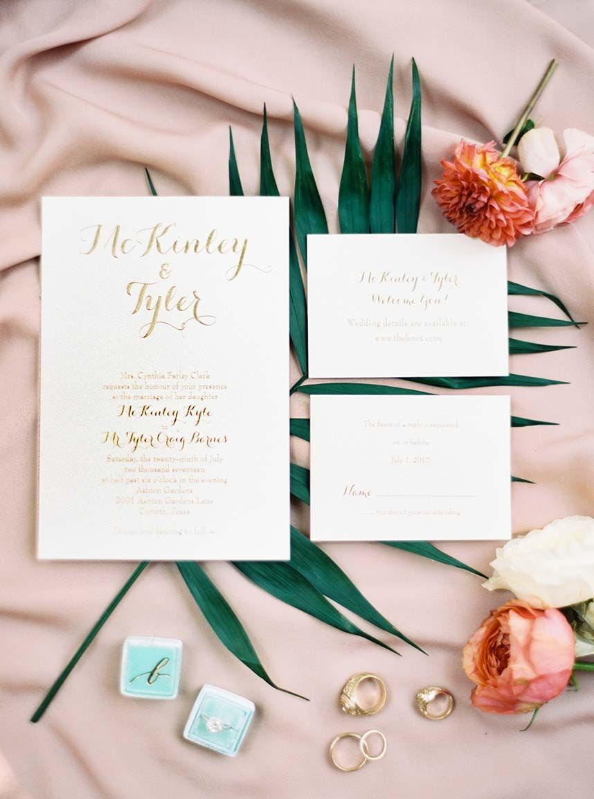 McKinley Clark Weds Tyler Barnes | Invitation suite, Texas and Clarks
