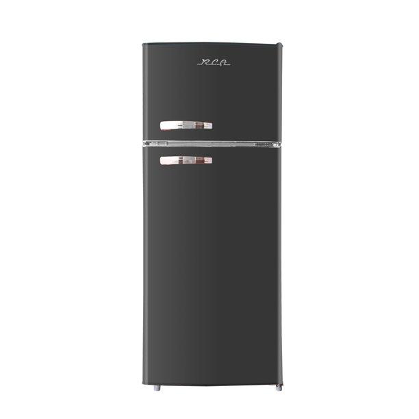 Rca 10 Cu Ft Top Freezer Apartment Size Retro Refrigerator Blue Rfr1055 Walmart Com In 2020 Retro Refrigerator Apartment Size Refrigerator Bottle Store
