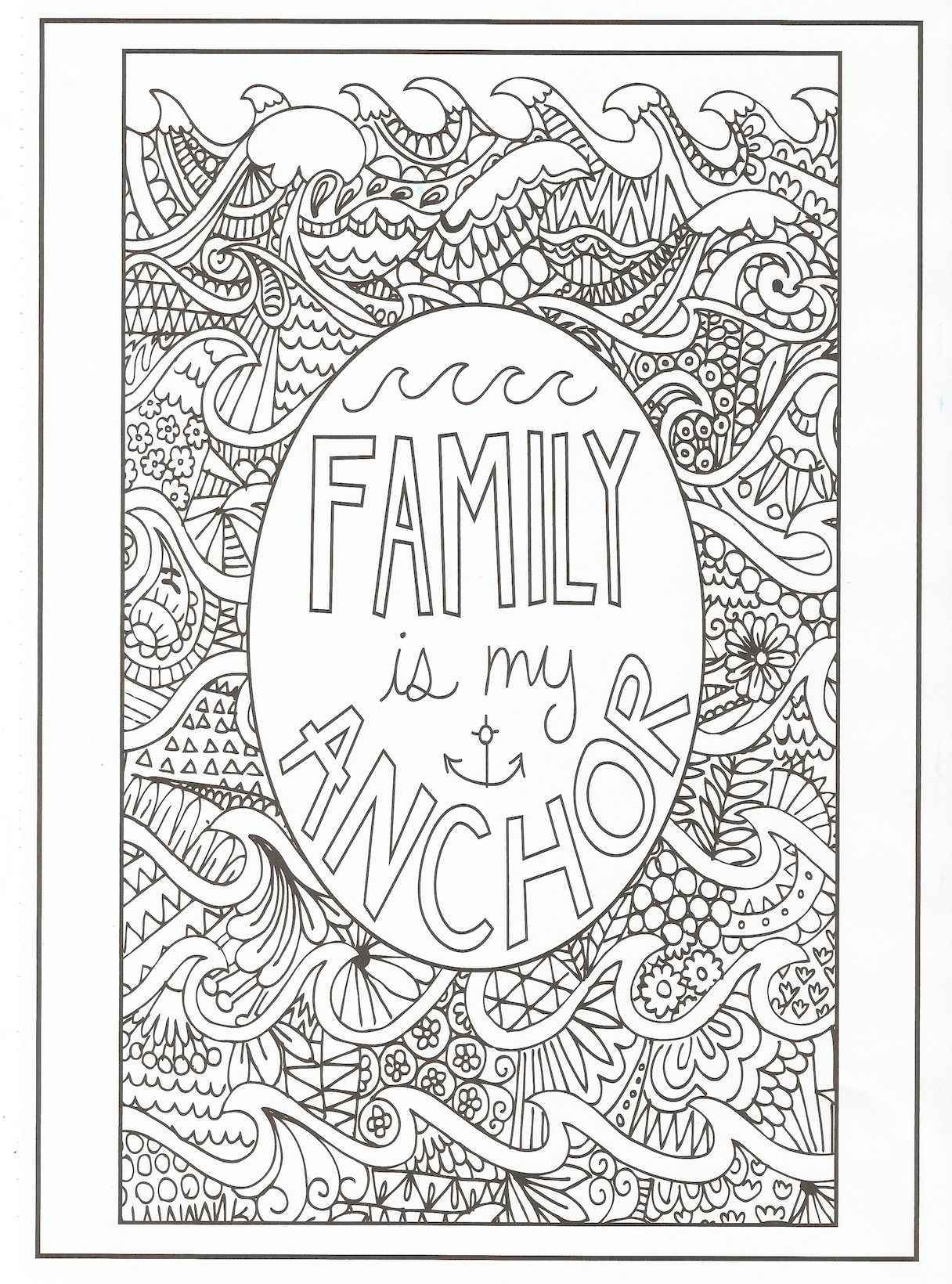 I Love My Family Coloring Pages
