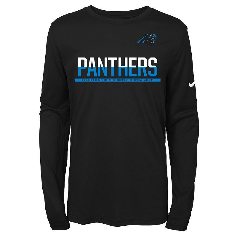 cc315dda Boys 8-20 Nike Carolina Panthers Practice Dri-FIT Long-Sleeve Tee ...