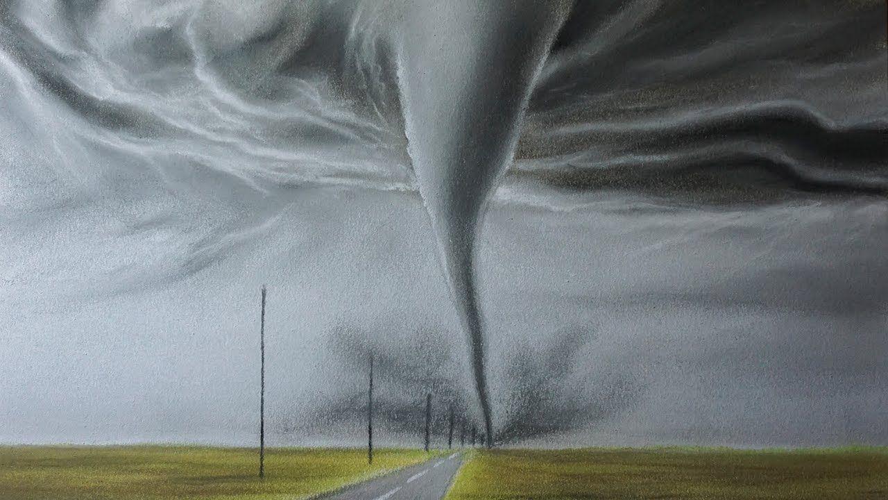 Cómo Dibujar un Tornado a Lápiz Carboncillo Paso a Paso - Dibujo de ...