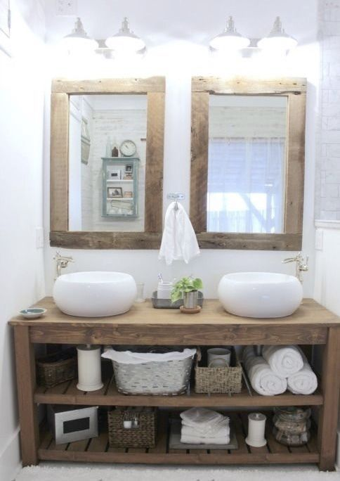 Details About New Rustic Chunky Solid Wood Bathroom Sink Vanity