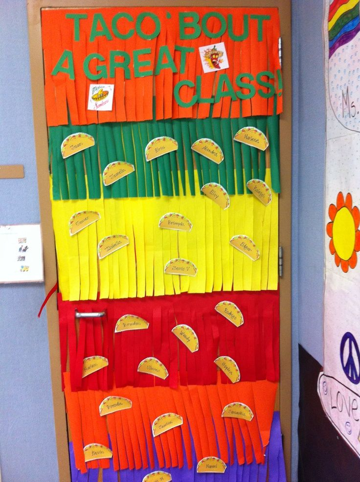 Spanish Classroom Decorations ~ Image of classroom door decorations for cinco de mayo