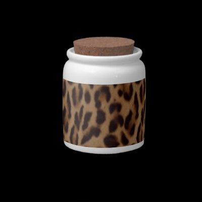 Valxart.com Leopard illusion Candy Jars are for leopard lovers.  See more leopard by Valxart http://www.zazzle.com/valxart+leopard+gifts