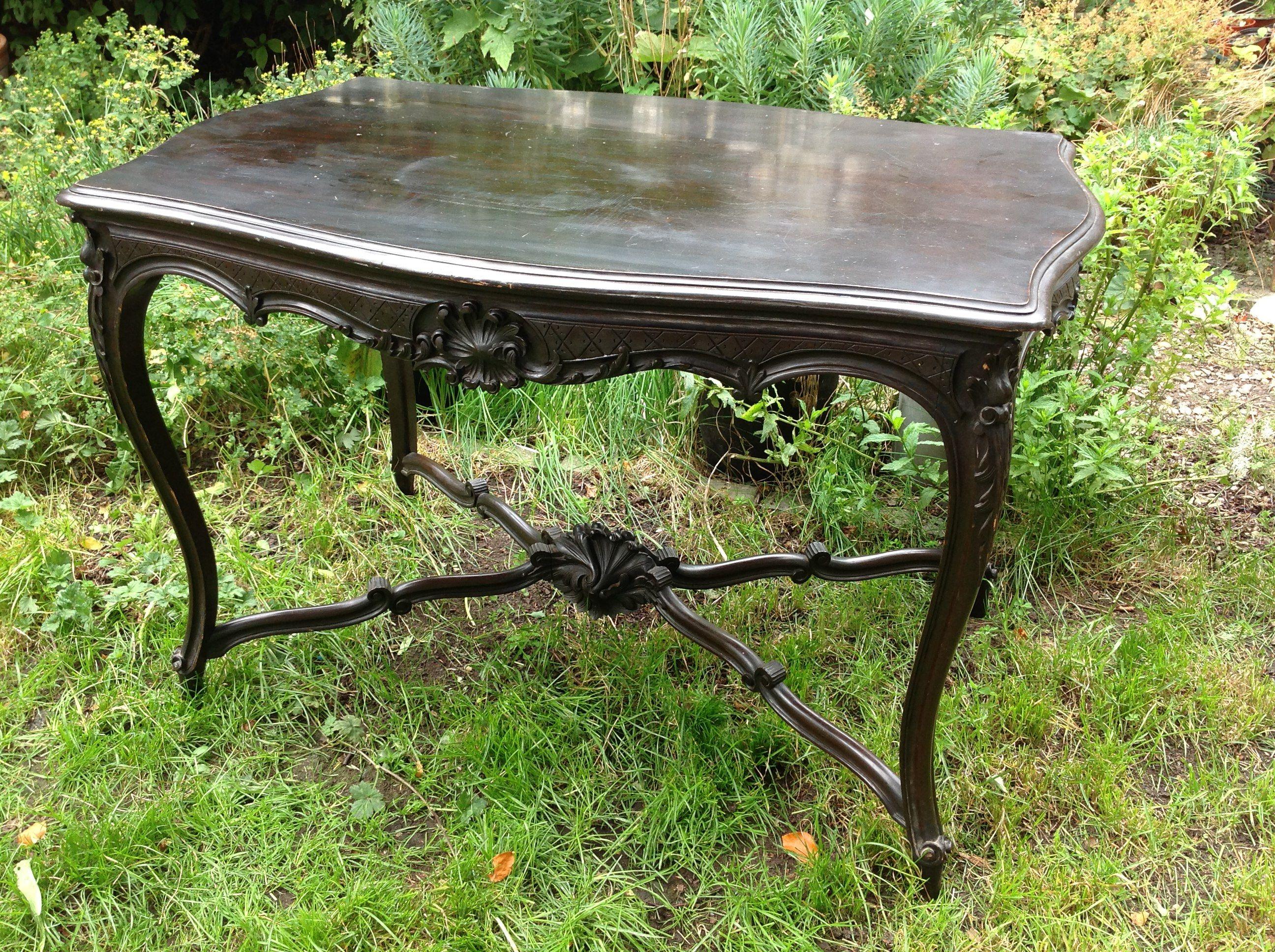 mahogany hall table. 19th Century Antique Ebonised Mahogany Hall Table From Www.hutchisonantiques.com