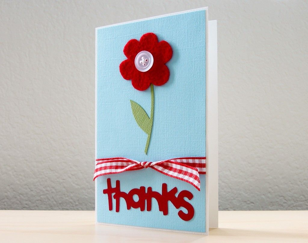 Flower Thank You Teacher Appreciation Card Childrens Holiday