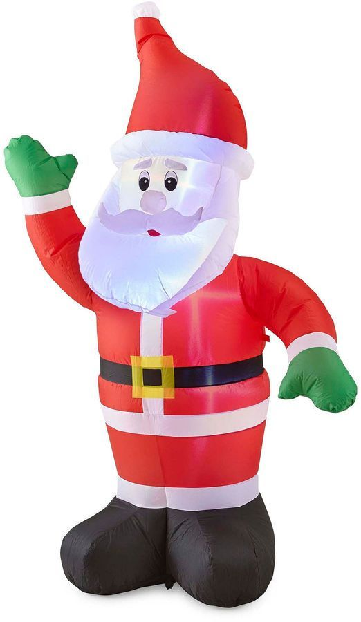 North Pole Trading Co 6ft Santa Outdoor Inflatable Products - inflatable outdoor christmas decorations