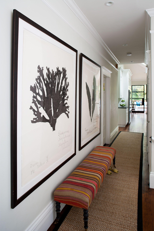 Custom striped bench through tamara mack design natural curiosities