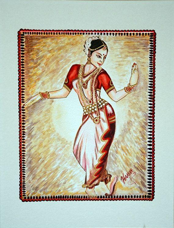 Original Dancing Oil Painting Indian Classical Dance Etsy Indian Classical Dance Painting Indian Dance