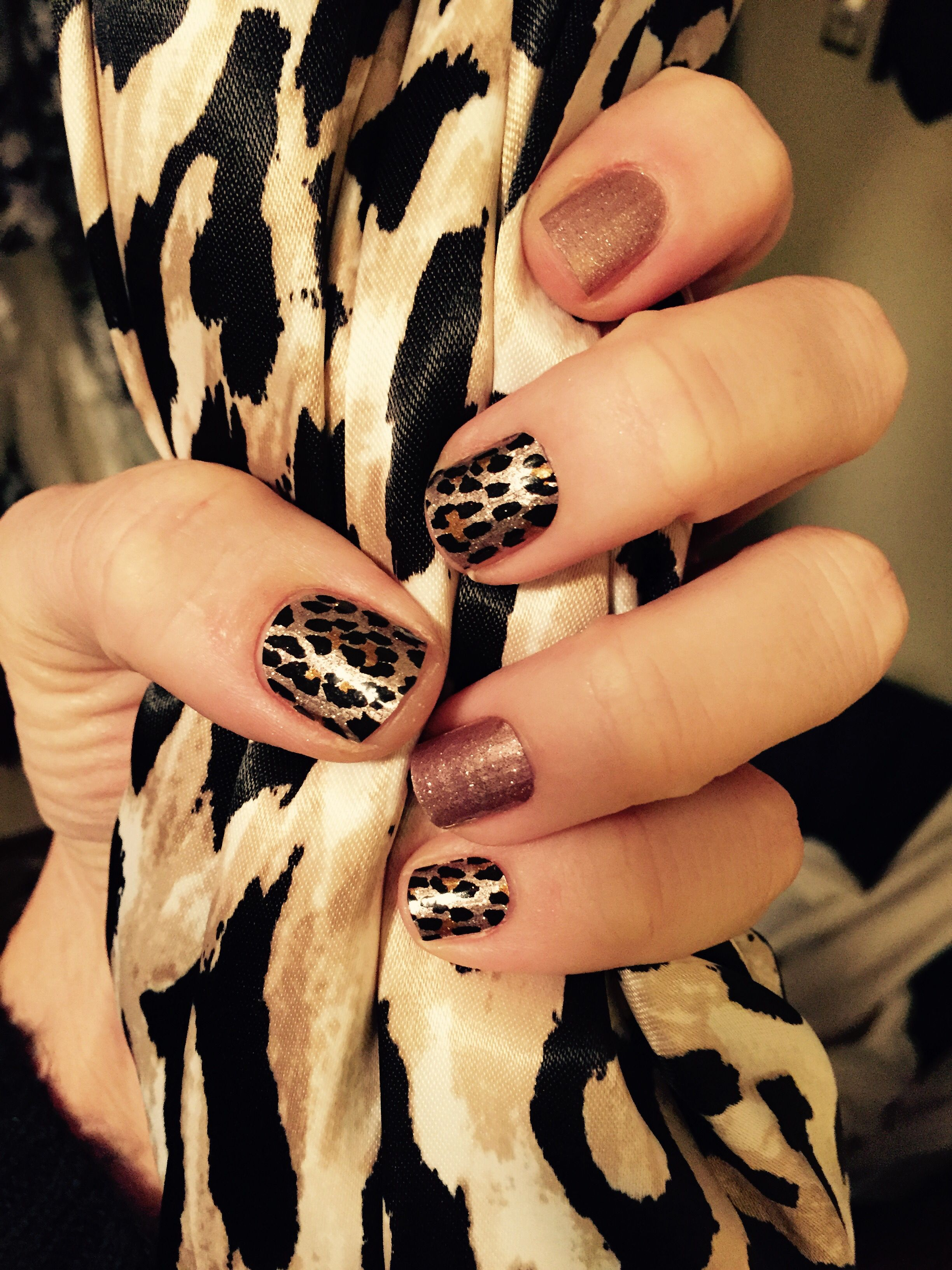 Jamberry Nails! Gilded Leopard Rose Gold Sparkle www.mathjams ...