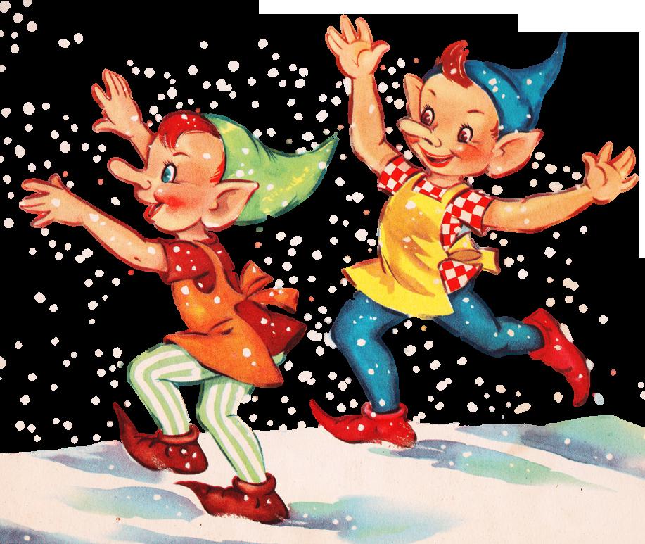 Imagimeri S Even More Christmas Graphics Oh My Elf Christmas Card Vintage Christmas Cards Vintage Christmas