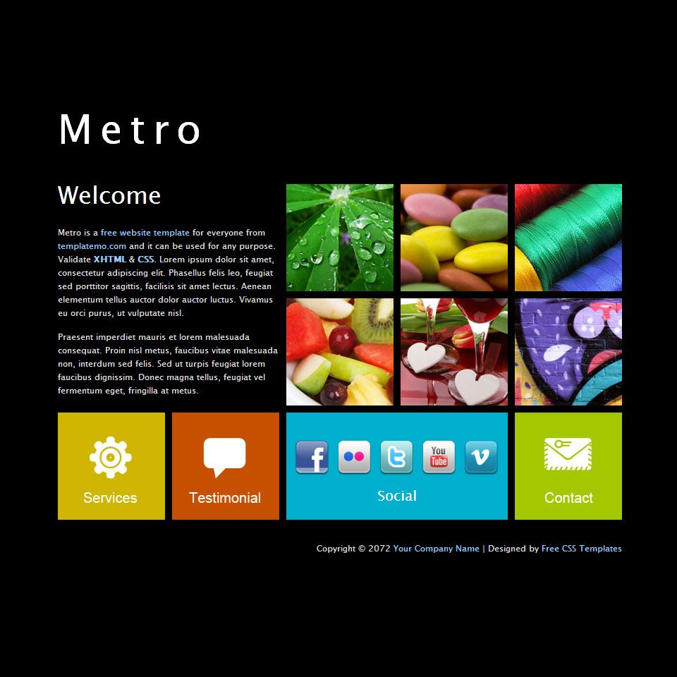 Windows Metro HTML Template Read more at our website | Html5 ...