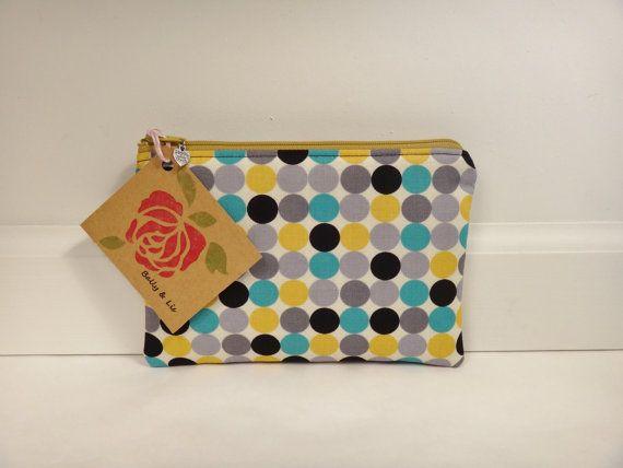 0707464876 Polka Dot Small Pouch Small Cosmetic Bag Makeup Bag by BallyandLis ...