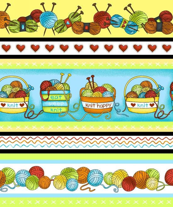 Pin By Storytelling On Happy Fabric: Knit Happy, Knitting Fabric, Border Scene Fabric, Scene
