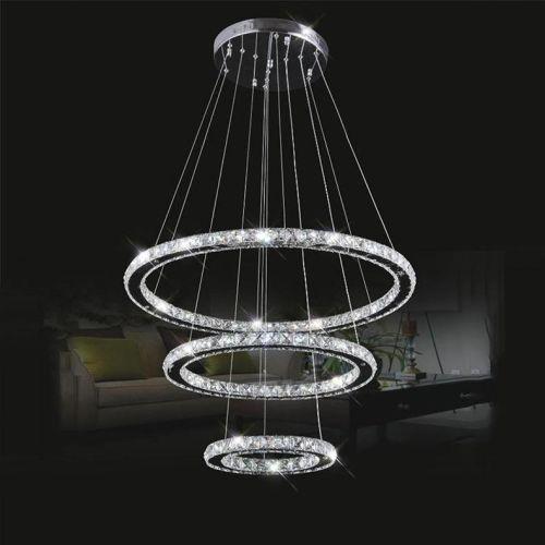 Crystal Galaxy 3tires Ring Light Pendant Light Ceiling Lamp Chandelier Led Light Ebay Crystal Chandelier Lighting Crystal Lamp Led Chandelier