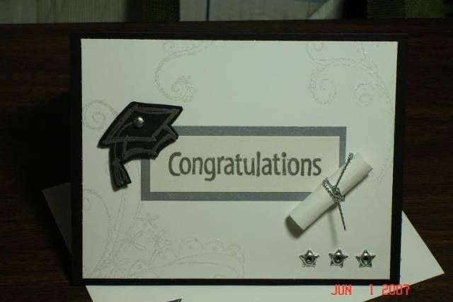 Graduation Card by Stampin'Mo - Cards and Paper Crafts at Splitcoaststampers