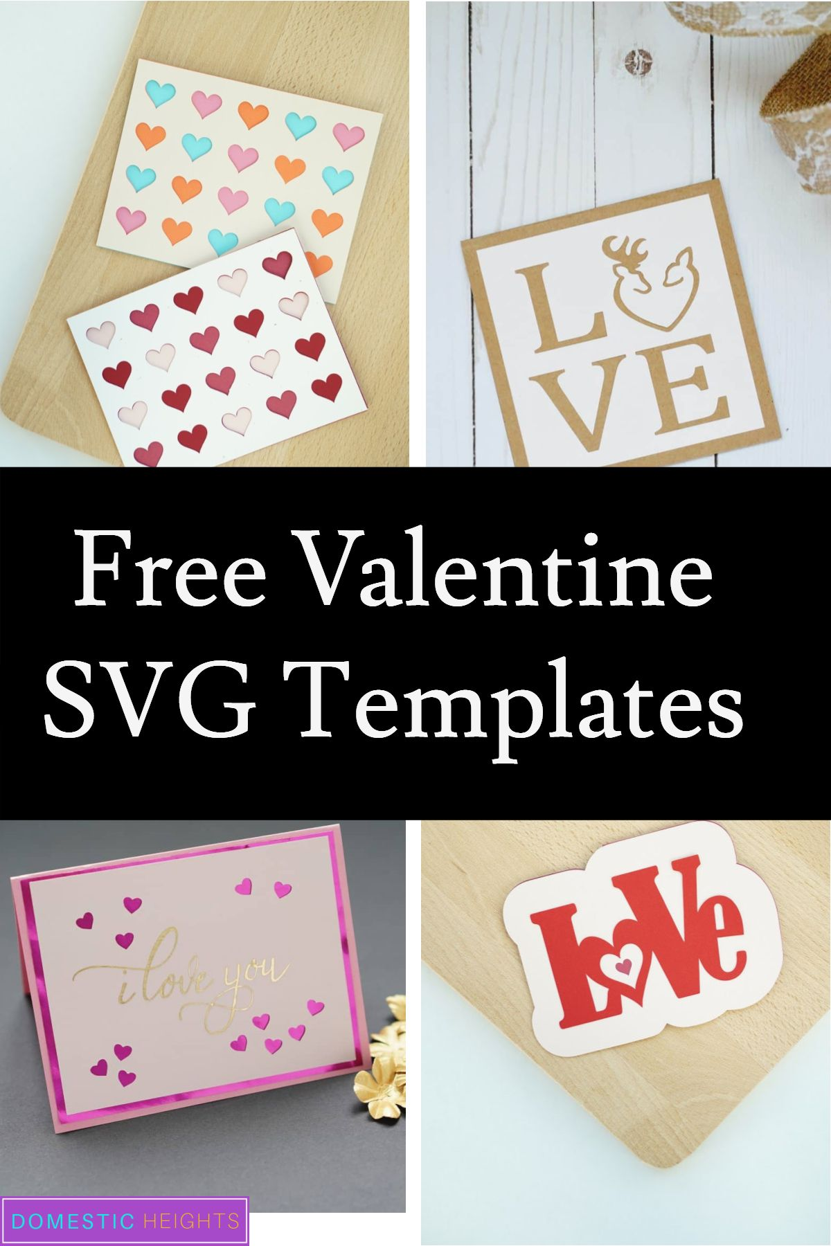 Love Card Ideas With Free Templates Domestic Heights Valentine Card Template Love Cards Handmade Free Valentine