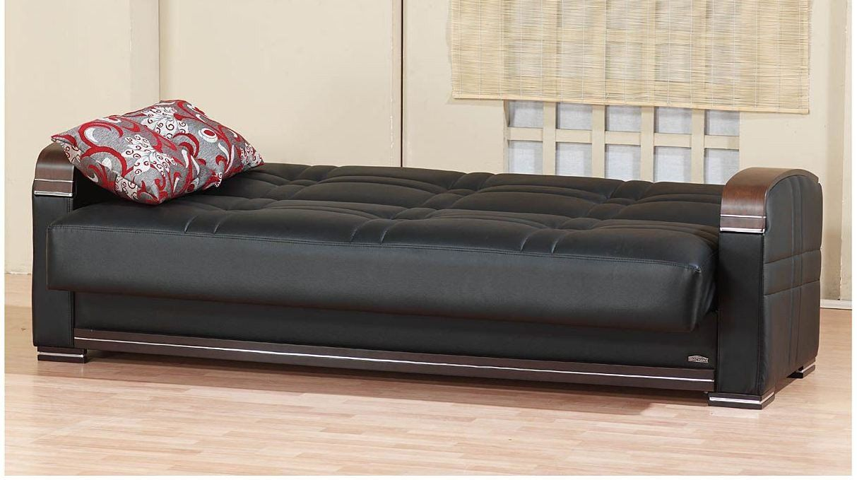 Affordable Leather Sectional Sofa Bed With Storage
