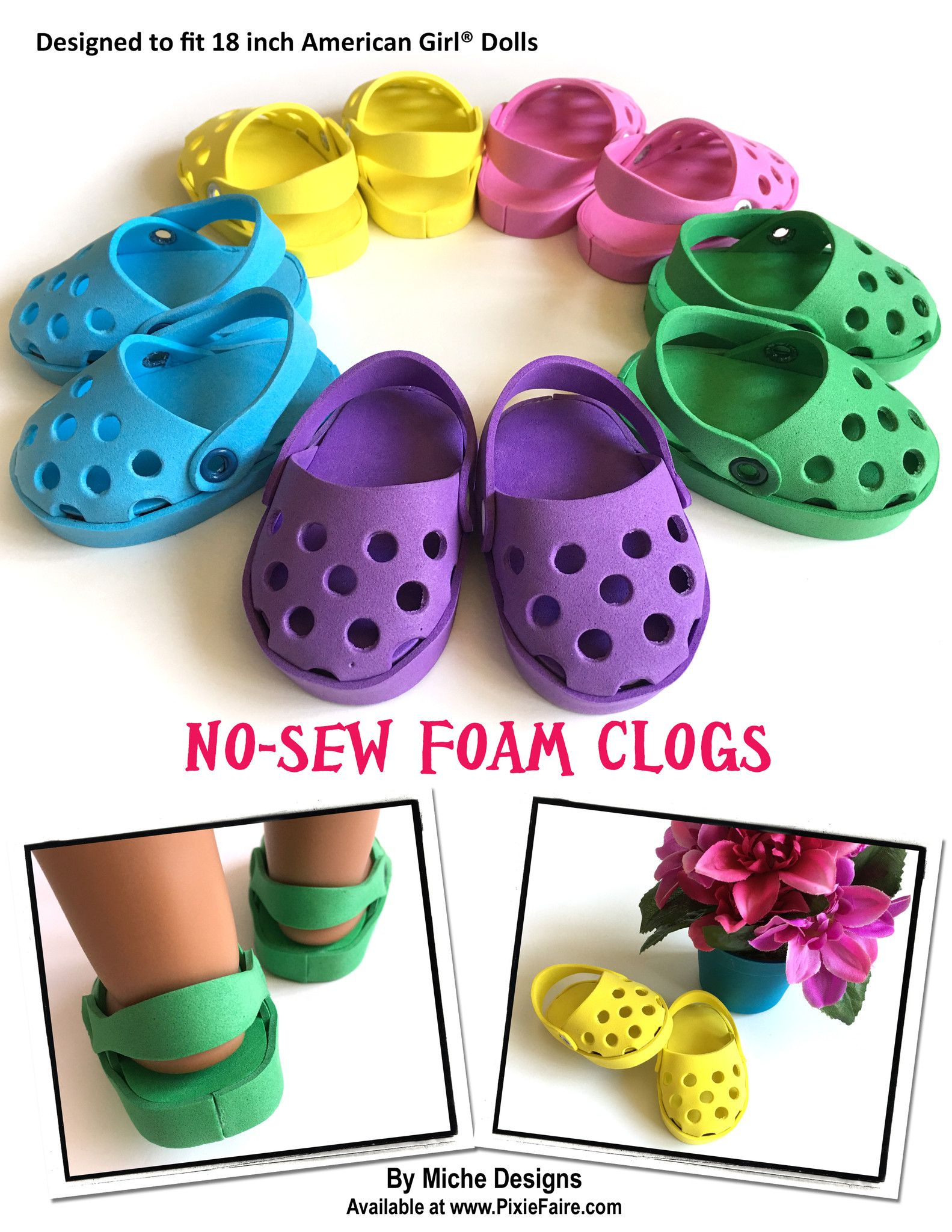 No-Sew Foam Clogs 18\