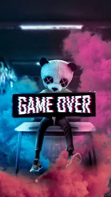 Game Over Panda Iphone Wallpaper Free Free Pik Psd Glitch Wallpaper Game Wallpaper Iphone Superhero Wallpaper