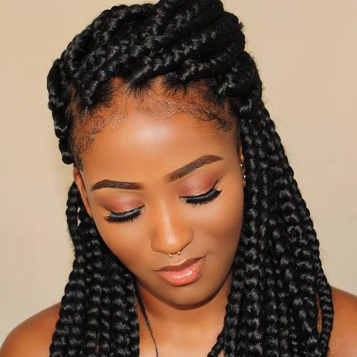 30 Cute And Chic Box Braids Will Rescue Your Natural Curly ...