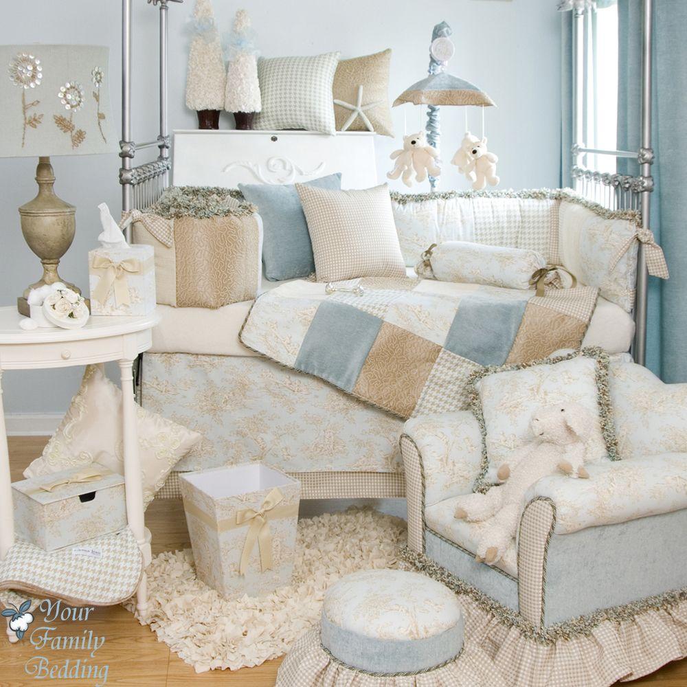 Glenna Jean Baby Boy Blue French Toile Designer Crib