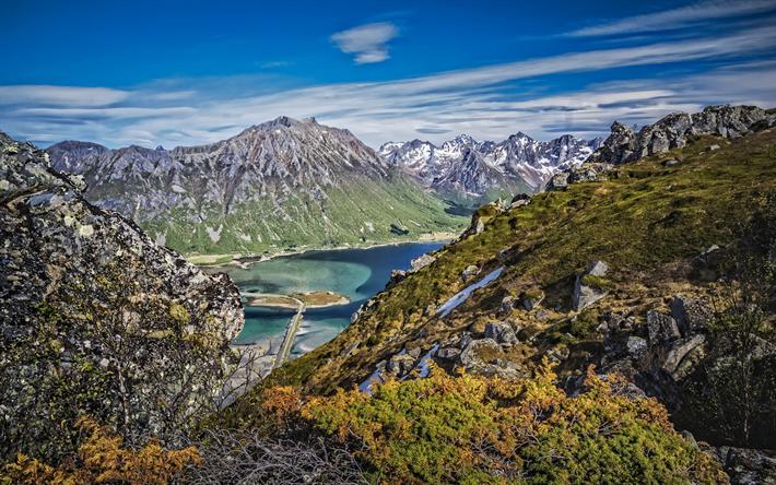 Download Wallpapers Mountain Landscape Mountain Lake Autumn Rocks Nordland Norway Mountain Landscape Landscape Wallpaper Landscape