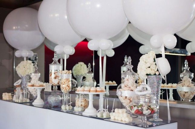 "How to Throw a Chic ""All White"" Party  White party decorations"