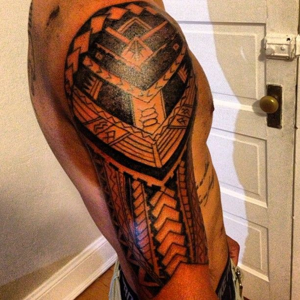 Awesome Urban Tribal Tattoo On Sleeve For Men Cool Tattoo Designs Tribal Tattoos Mens Shoulder Tattoo Cool Tribal Tattoos