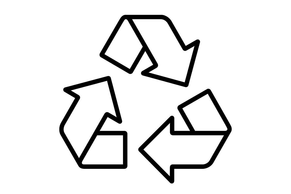 Rounded Recycling Symbol Recycle Symbol Recycling Symbol Design