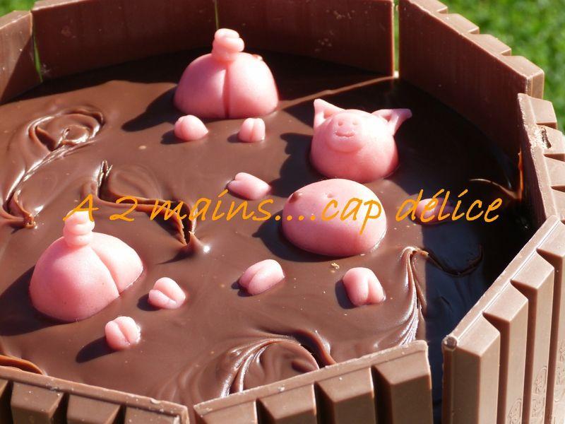 La piscine des cochons recette pas a pas gateau gateau chocolat patisserie gateau et decors - Papa cochon a la piscine ...