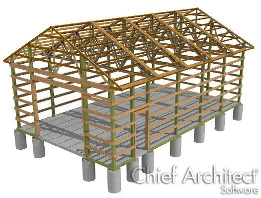 Creating A Traditional Pole Barn Structure Chief Architect