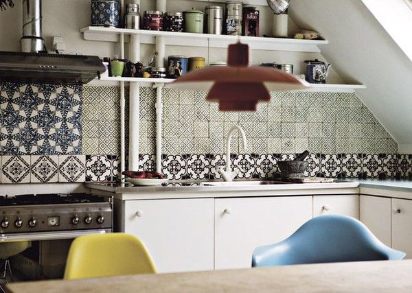 Méchant Studio Blog mix up cement tiles Bogusia-kitchen Pinterest