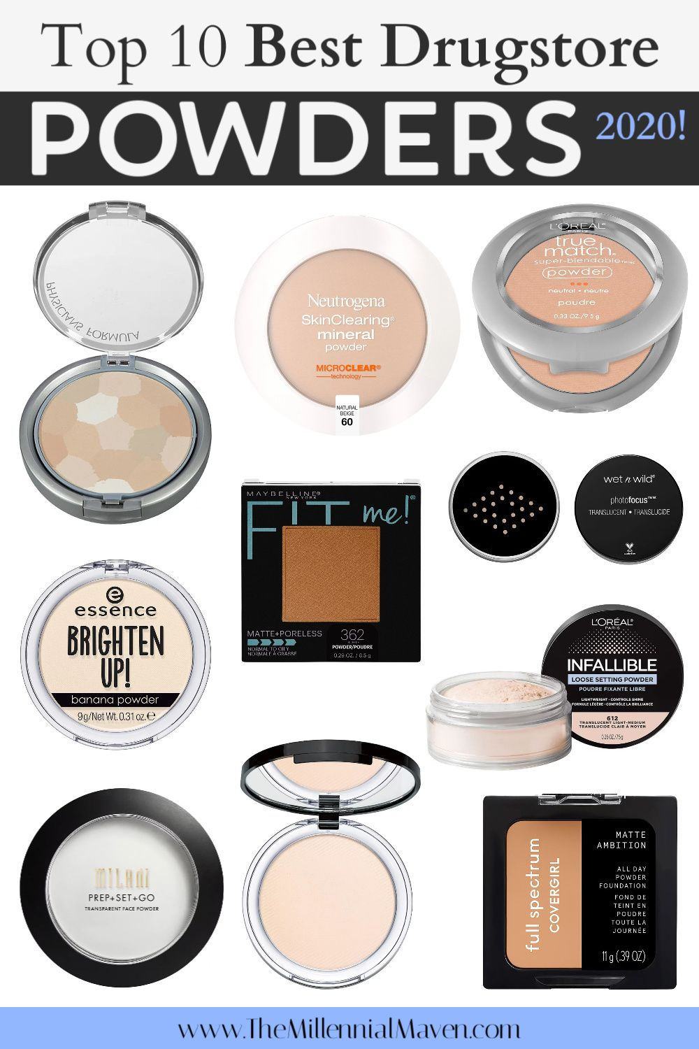 Updated 2020 Top 10 Best Powders At The Drugstore Best Drugstore Powders 2020 The Mille In 2020 Best Drugstore Powder Drugstore Powder Best Drugstore Face Powder