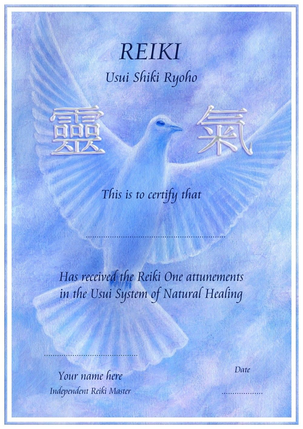 reiki certificate template books worth reading
