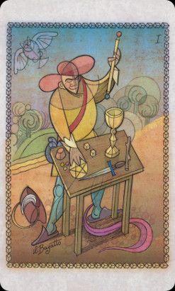 Magician, Roberto Viesi Tarot (majors only deck -- great artwork!)