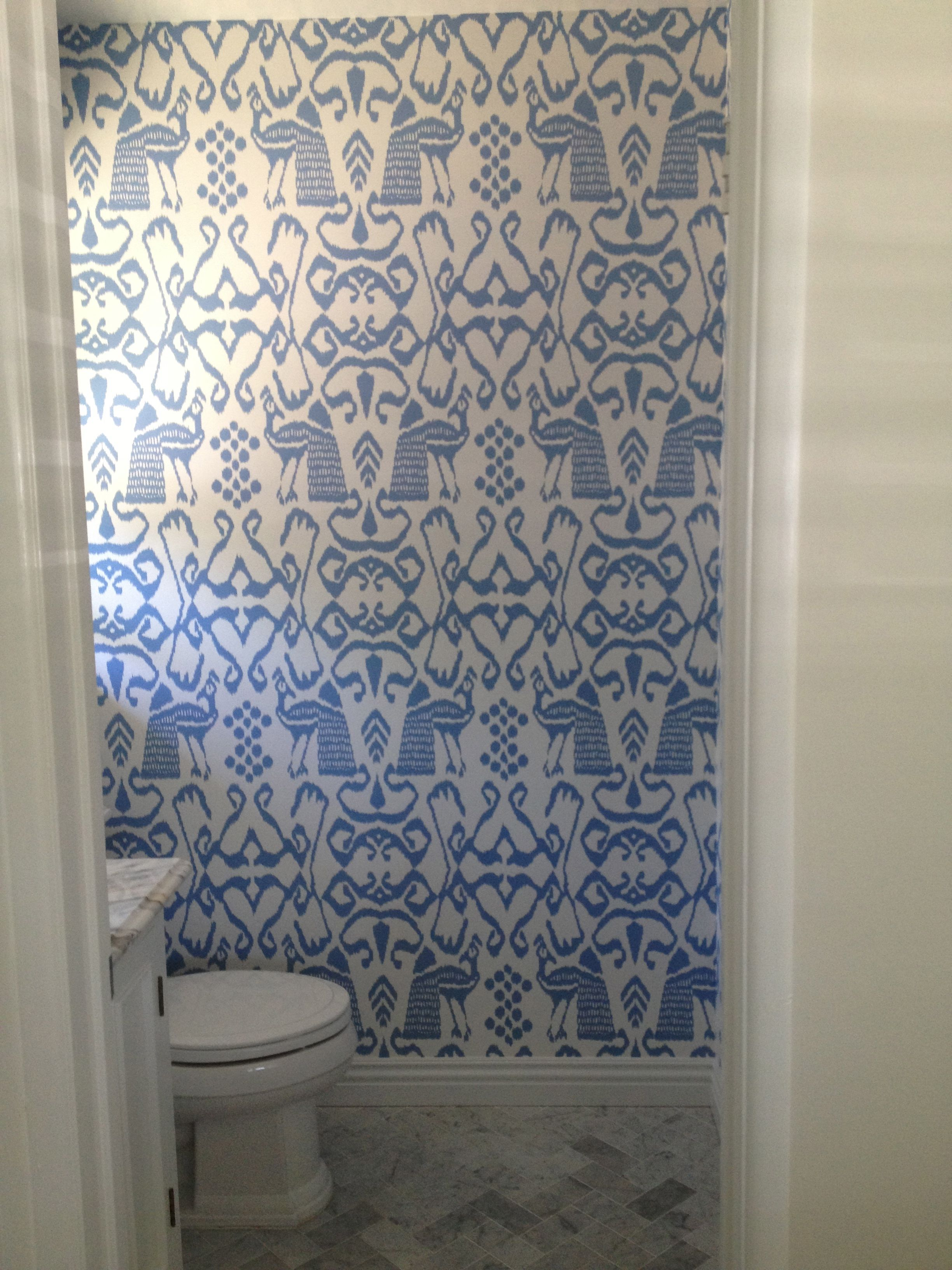 Funky Powder Room Wallpaper