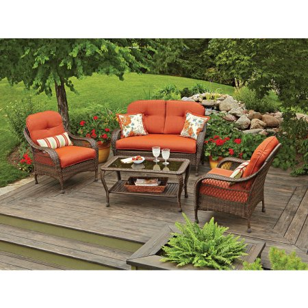Better Homes And Gardens Azalea Ridge 4 Piece Patio Conversation Set
