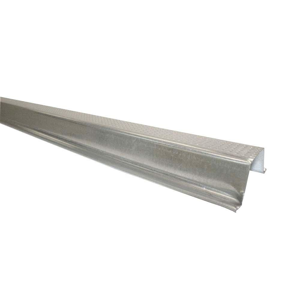 Gibraltar Building Products 12 Ft Galvanized Steel High Hat Furring Channel 13194 The Home Depot Copper Kitchen Sink Copper Kitchen Masonry Wall