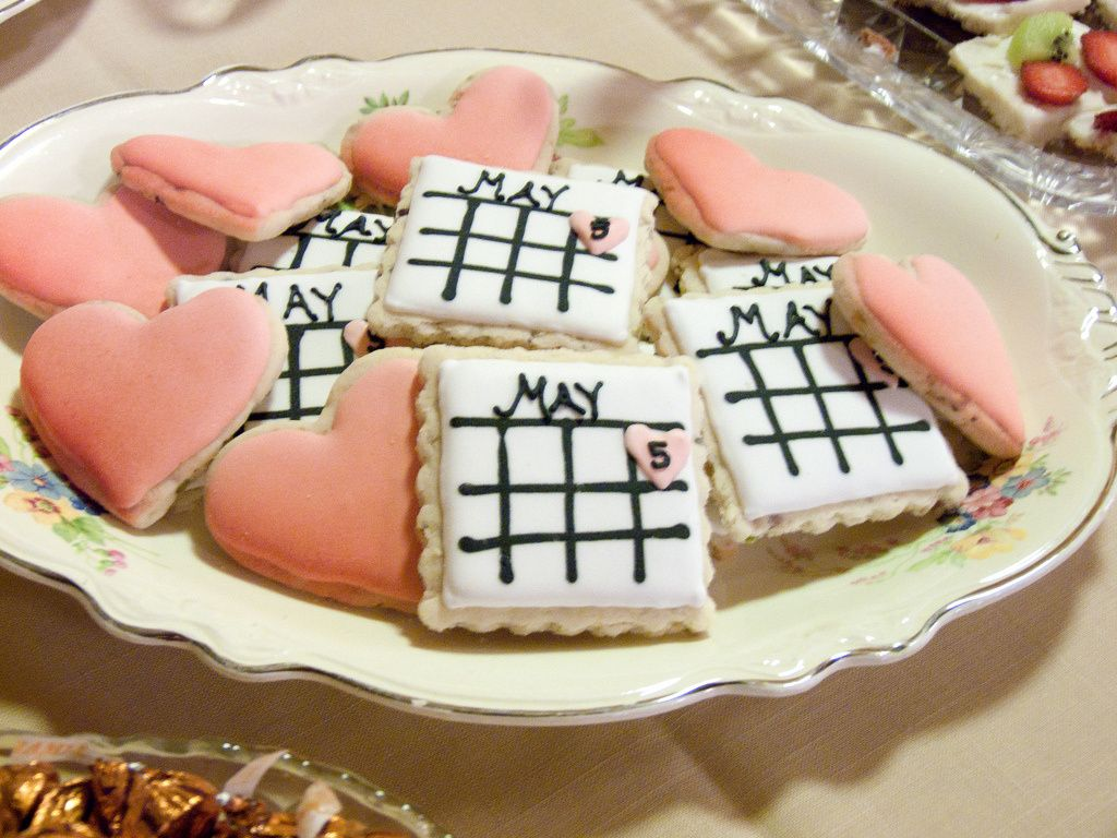 unique bridal shower appetizers%0A Save the Date Wedding Shower Cookies