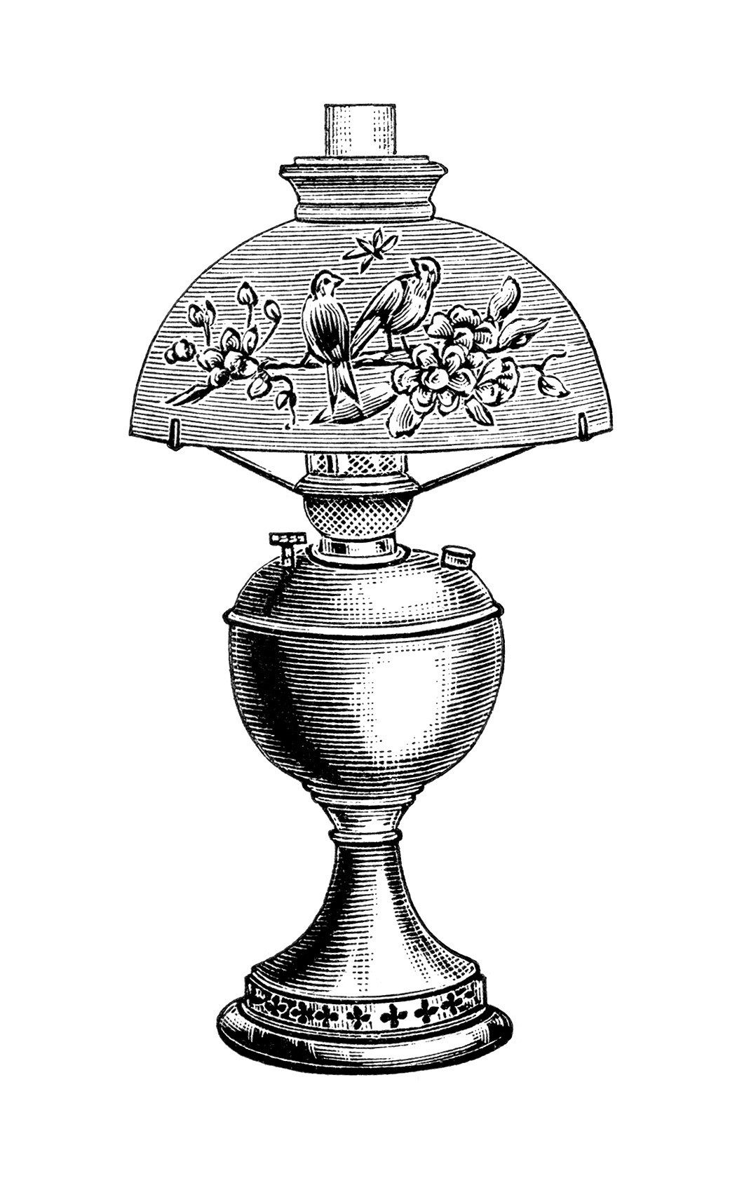 Table Lamp Drawing Image Vintage Lamp Clip Art Black And White Clipart Victorian