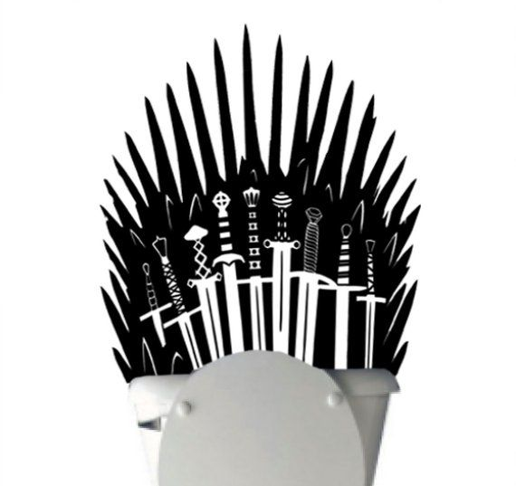Iron Throne Toilet Decal Sticker Parody Inspired By Game Of Thrones
