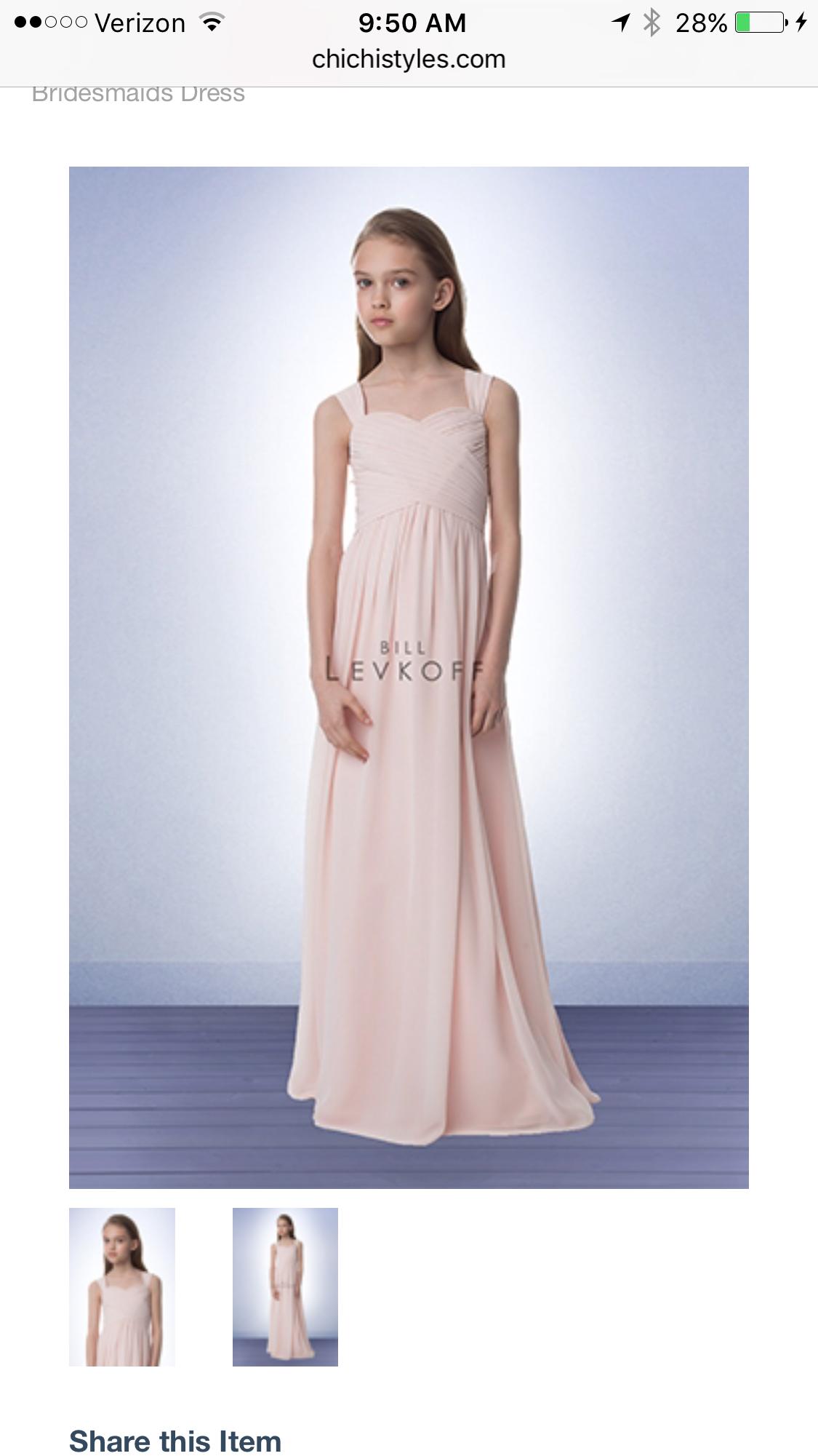 Bill Levkoff Junior Bridesmaid Dresses