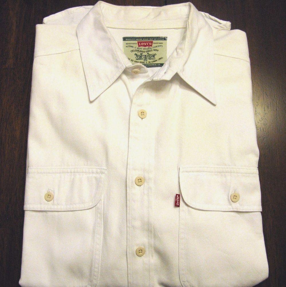 887be77657d Mens Levis White Denim Shirt - BCD Tofu House