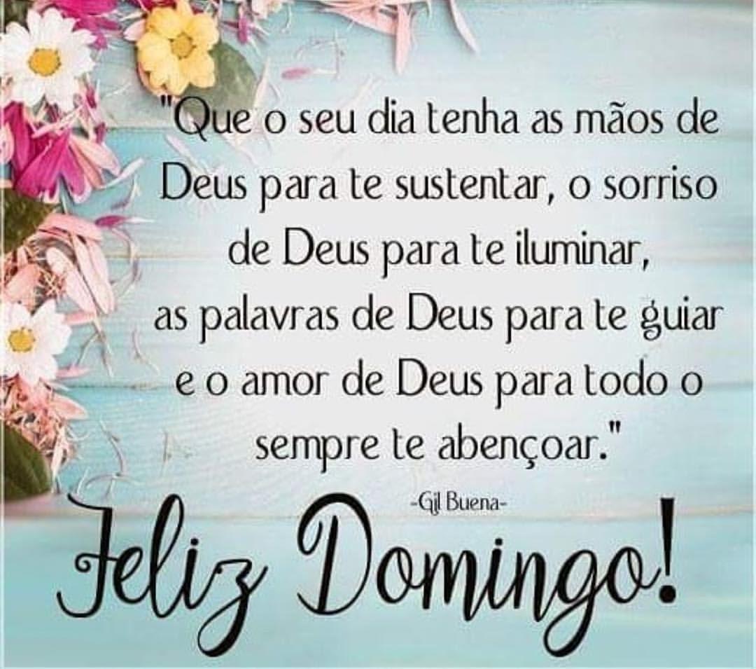 Domingo abençoado à todos...!!! 🌀🍀🦋🌸 #bomdia #domingo #especial #lindo # feliz #alegria #fé #sorri…   Mensagem de domingo feliz, Domingo abençoado, Domingo  feliz