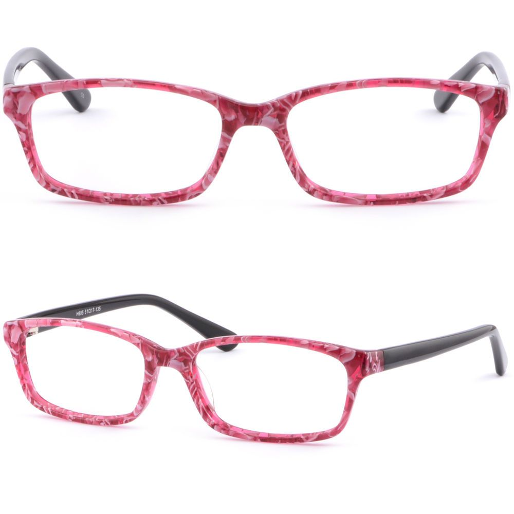 edcdf8a26a Thin Light Plastic Acetate Frame Women Frame Prescription Glasses RX Lenses  Pink  Unbranded