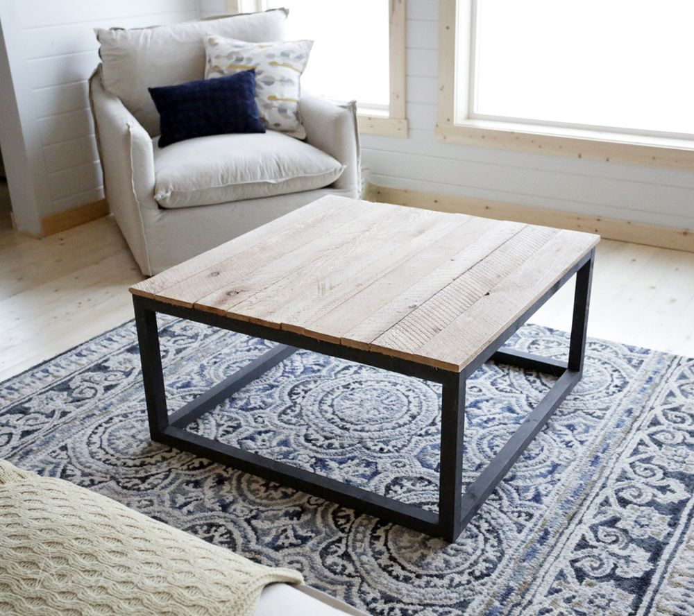5 ideas for a do it yourself coffee table lets do it industrial industrial style coffee table as seen on diy network ana white solutioingenieria
