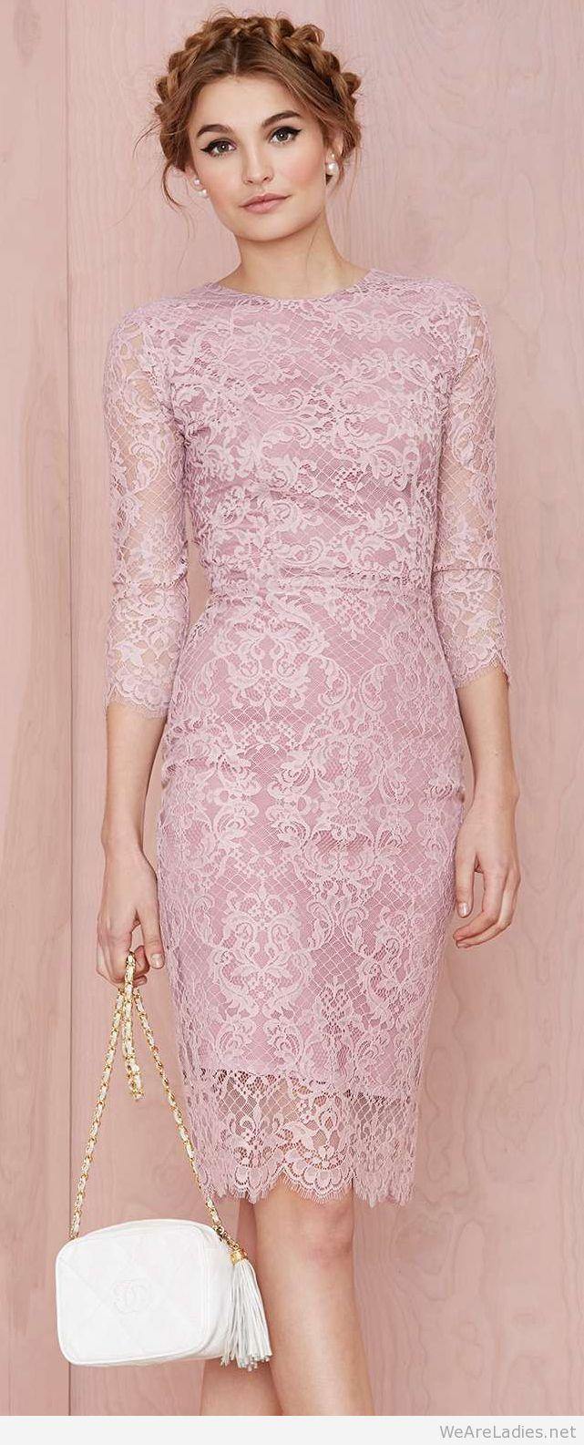 Amazing pink pencil dress | vestidos.. | Pinterest | Vestiditos ...