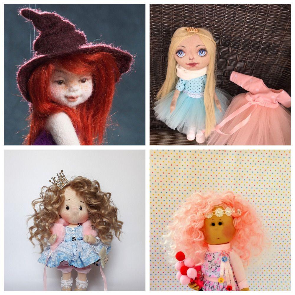 dolls yarn wig